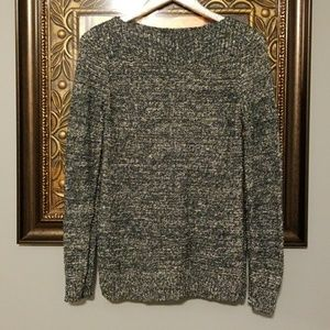 Crotch & Barrow green gold knitted sweater EUC AS